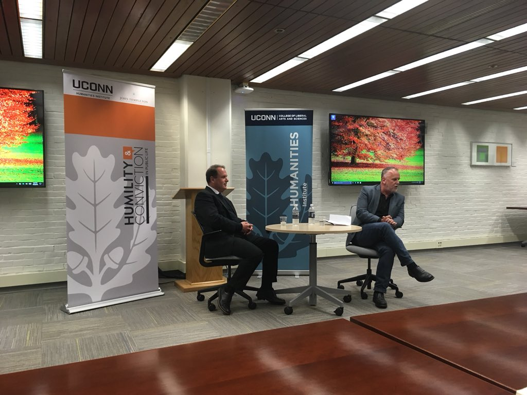 Publishing NOW speaker, Peter Catapano of the New York Times and UCHI Director Michael Lynch discussed publishing and careers in journalism.