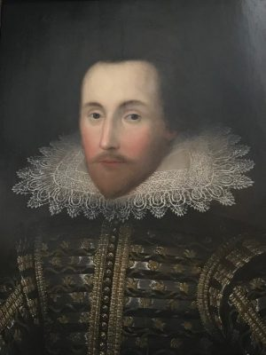 Figure 1: This portrait may be of Sir Thomas Overbury. It is currently hanging in the reading room at the Folger Shakespeare Library.