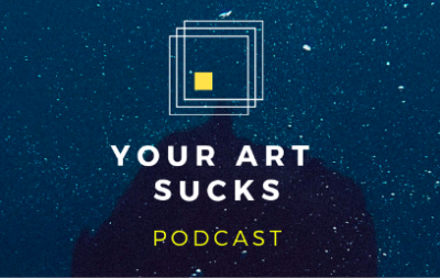 Your Art Sucks podcast logo