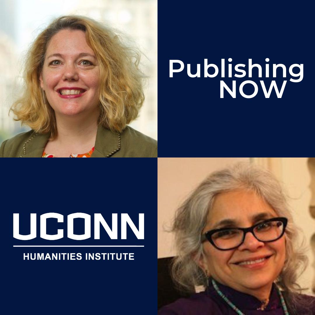 Headshots of Ilene Kalish and Manisha Desai with UCHI logo and Publishing Now logo.