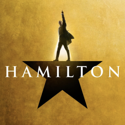 Promotional poster for Hamilton