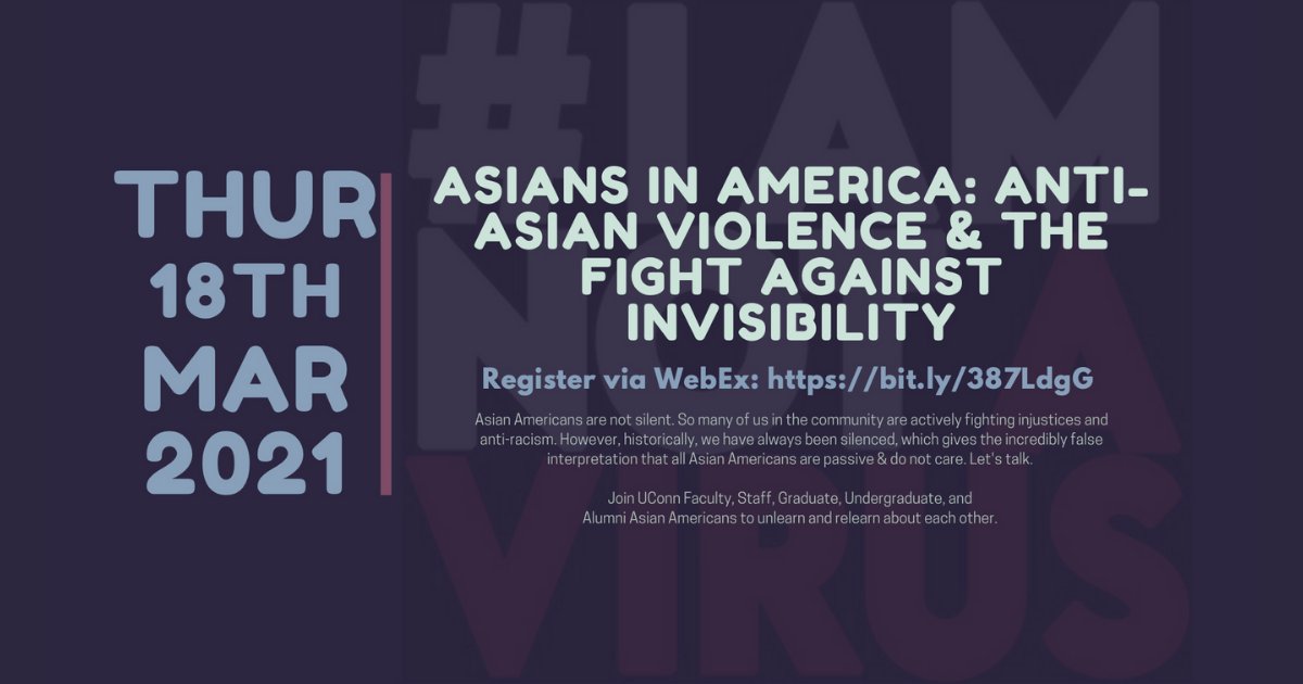 Anti-Asian Violence event poster