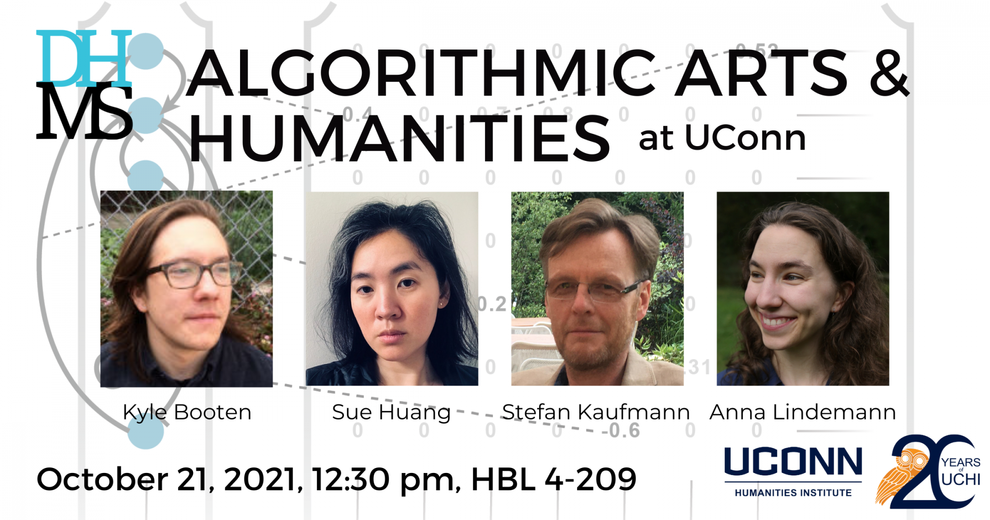 DHMS: Algorithmic Arts and Humanities at UConn. October 21, 2021, 12:30pm. HBL 4-209